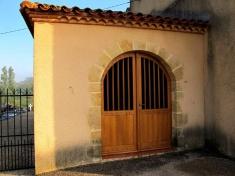 menuiserie chêne massif, porte d'église, sur mesure, 64