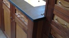 Détail de fabrication, salle de bain