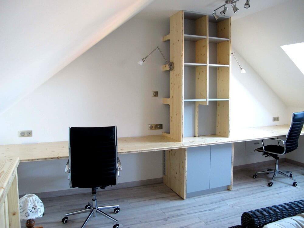 Fabrication d un bureau sur mesure dans le laurentin