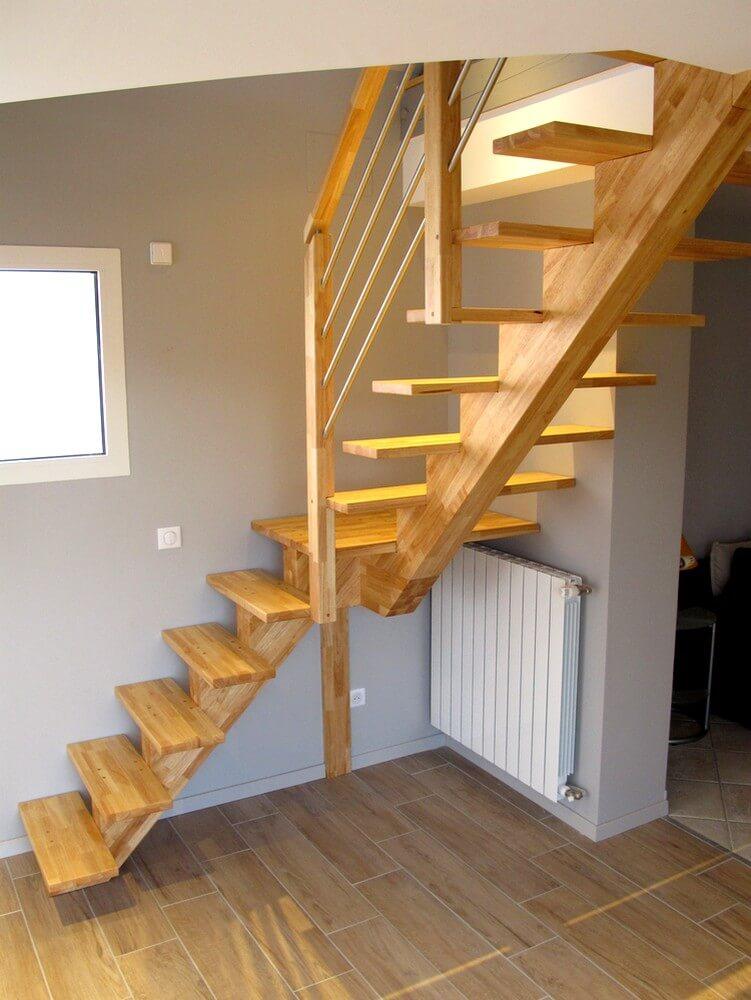 escalier et bureau sur mesure en hevea massif laurentin. Black Bedroom Furniture Sets. Home Design Ideas
